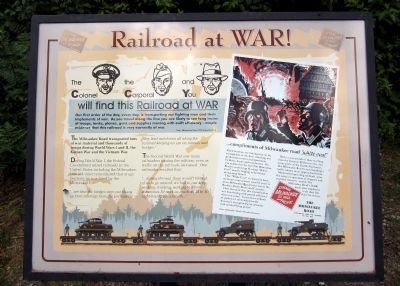 Railroad at WAR! Marker image. Click for full size.
