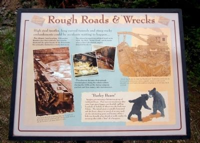 Rough Roads & Wrecks Marker image. Click for full size.