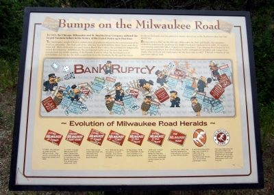 Bumps on the Milwaukee Road Marker image. Click for full size.