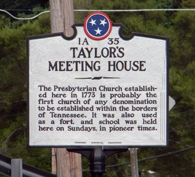 Taylor's Meeting House Marker image. Click for full size.