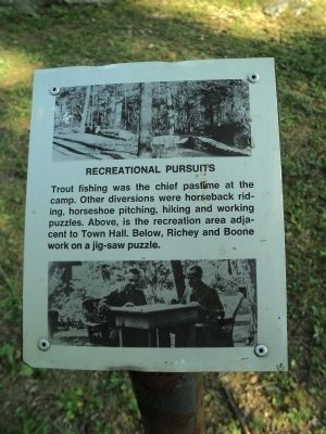 Recreational Pursuits Marker image. Click for full size.