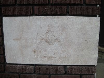 St. John's Masonic Lodge Cornerstone image. Click for full size.