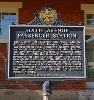 Sixth Avenue Passenger Station Marker image. Click for full size.