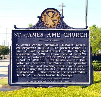 St. James AME Church Marker image. Click for full size.