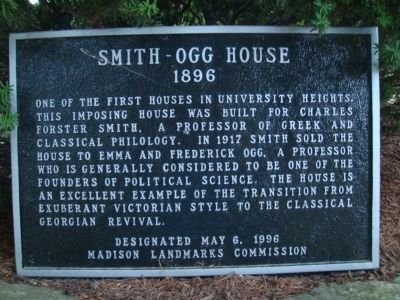 Smith-Ogg House Marker image. Click for full size.