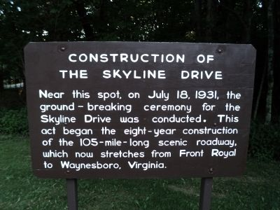 Construction of the Skyline Drive Marker image. Click for full size.