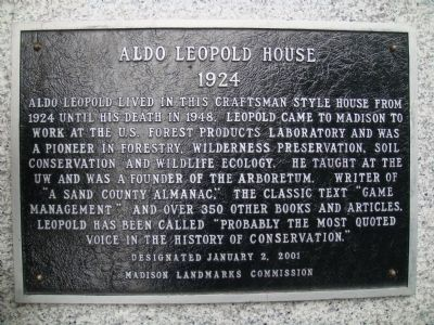 Aldo Leopold House Marker image. Click for full size.