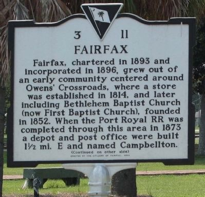 Fairfax Marker image. Click for full size.