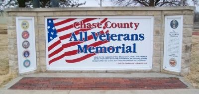 Chase County All Veterans Memorial image. Click for full size.