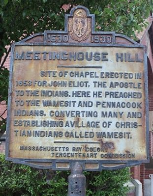 Meetinghouse Hill Marker image. Click for full size.