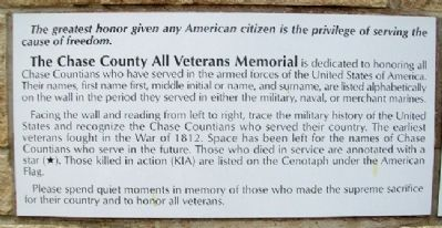 Chase County All Veterans Memorial Dedication image. Click for full size.