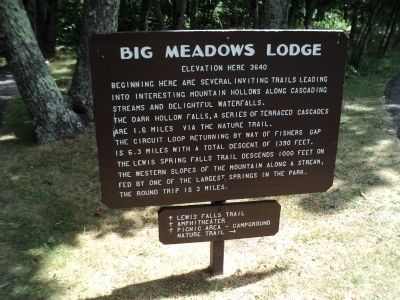 Second Big Meadows Lodge Marker image. Click for full size.