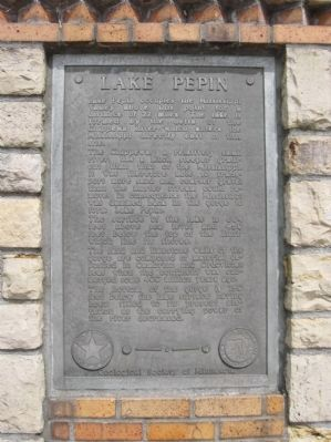 Lake Pepin Geological Marker image. Click for full size.