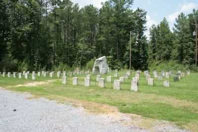 General Jackson Stone Marker Stands In The Middle of the Fort Williams Cemetery Site image. Click for full size.