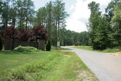 Looking South Along Gen. Jackson Memorial Drive. Entrance to Waters Edge Subdivision. image. Click for full size.