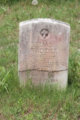One of the 78 soldiers buried in the Fort Williams Cemetery. image. Click for full size.