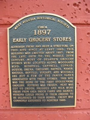 Early Grocery Stores Marker image. Click for full size.