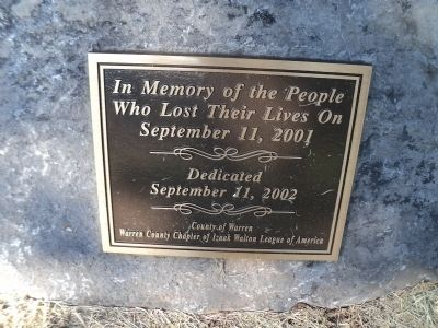 Warren County 9/11 Memorial Marker image. Click for full size.