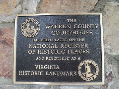 Warren County Courthouse Marker image. Click for full size.