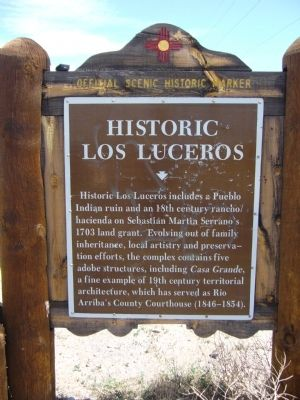 Historic Los Luceros Marker image. Click for full size.