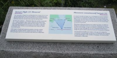 Swissair Flight 111 Memorial Marker image. Click for full size.