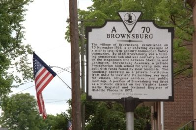 Brownsburg Marker image. Click for full size.
