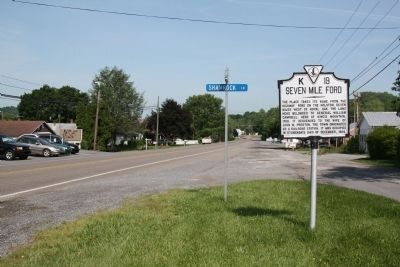 Seven Mile Ford Marker image. Click for full size.