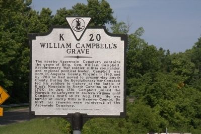 William Campbell's Grave Marker image. Click for full size.