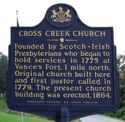 Cross Creek Church Marker image. Click for full size.