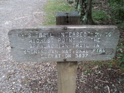 Appalachian Trail High Point Marker image. Click for full size.