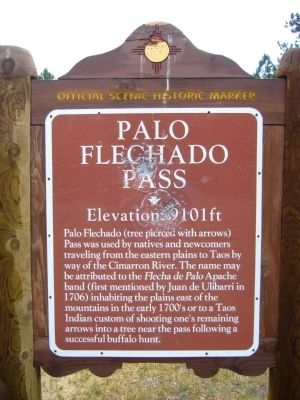 Palo Flechado Pass Marker image. Click for full size.