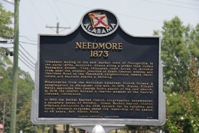 Needmore 1873 Marker image. Click for full size.