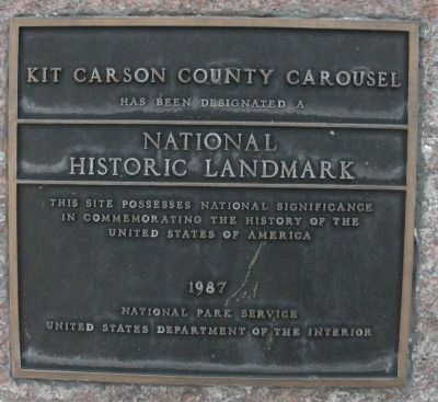 Kit Carson County Carousel Marker image. Click for full size.