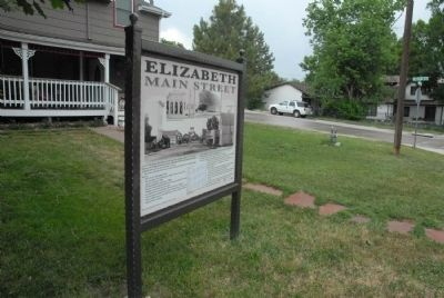 Elizabeth Main Street Marker image, Touch for more information