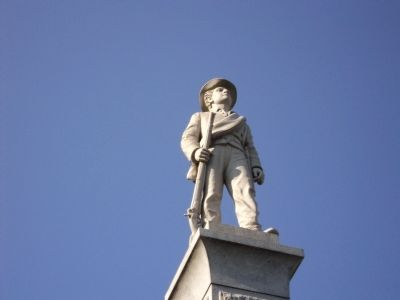 Closeup of Confederate Soldier image. Click for full size.