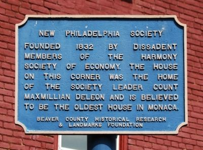 New Philadelphia Society Marker image. Click for full size.