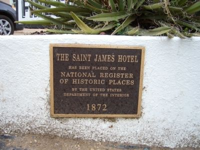 The Saint James Hotel Marker image. Click for full size.