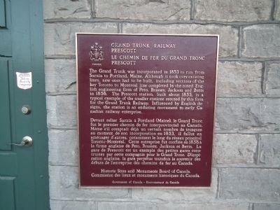 Grand Trunk Railway Marker image. Click for full size.