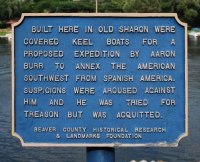 Built Here In Old Sharon Marker image. Click for full size.