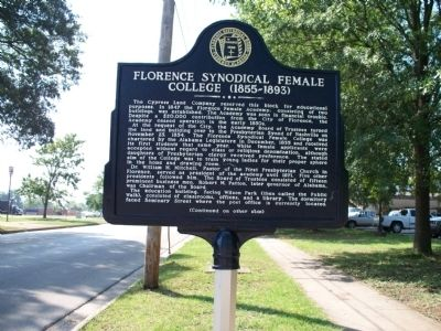 Florence Synodical Female College Marker image. Click for full size.