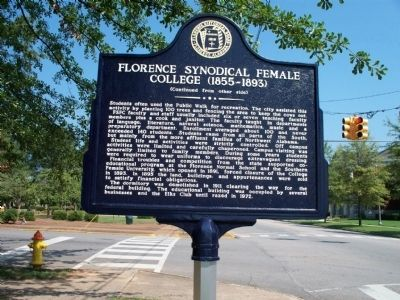 Florence Synodical Female College Marker side 2 image. Click for full size.