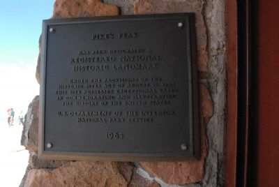 Pike's Peak Marker image. Click for full size.