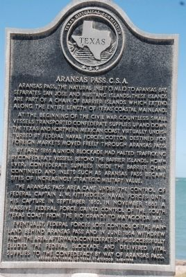Aransas Pass. C.S.A. Marker image. Click for full size.