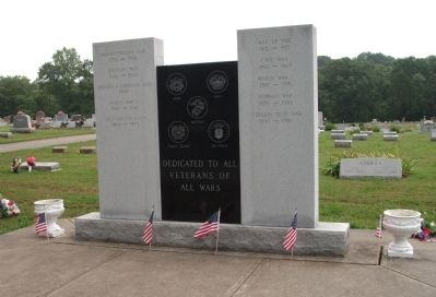 Full View - - Jennings County Veterans Memorial Marker image. Click for full size.