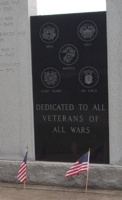 Center Panel - - Jennings County Veterans Memorial Marker image. Click for full size.