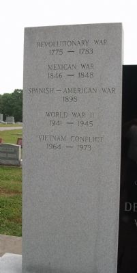 Left Panel - - Jennings County Veterans Memorial Marker image. Click for full size.
