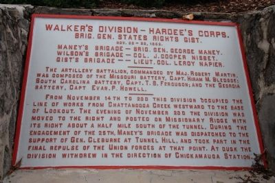 Walker's Division - Hardee's Corps. Marker image. Click for full size.