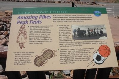 Amazing Pikes Peak Feats Marker image. Click for full size.
