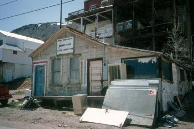 Purportedly the Last Crib in Virginia City's Red Light District, Now Razed. image. Click for full size.
