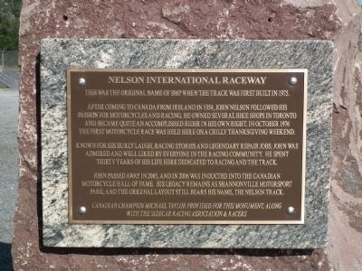 Nelson International Raceway Marker image. Click for full size.